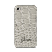 Чехол GUESS Croco Back Cover BEIGE для iPhone 4/4S